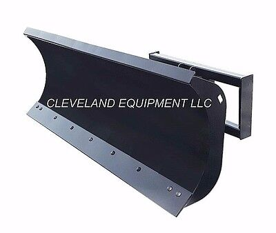 """NEW 96"""" HD SNOW PLOW ATTACHMENT Hydraulic Angle Blade Bobcat Skid Steer Loader"""