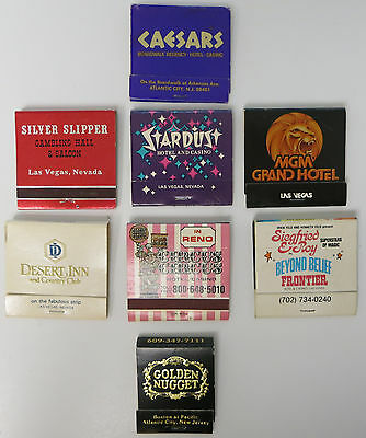 Assorted Lot of 8 Vintage Casino Hotel Match Books