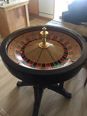 "32"" Antique Roulette Wheel casino quality  . BC Willis wheel from Detroit."