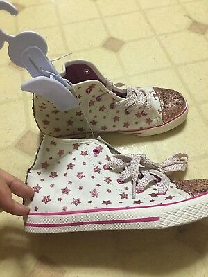 New the children's place girl's sneaker size 2 pink and white