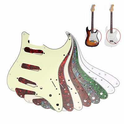 Guitar Pickguard 3 Ply 11Hole Plastic Scratchplate For Fender Strat Stratocaster
