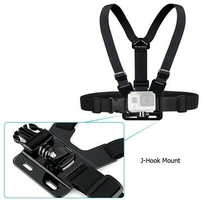 2PCS J-Hook Head Chest Mount Strap GoPro Hero 1 2 3 Camera Accessories Set Kit