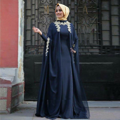 fdc34979546 ... Muslim Evening Dresses Hijab Dubai Abaya Kaftan Dress Turkish Arabic Prom  Gowns 2
