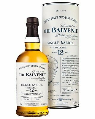 The Balvenie Aged 12 Years Single Barrel Speyside Single Malt Scotch Whisky