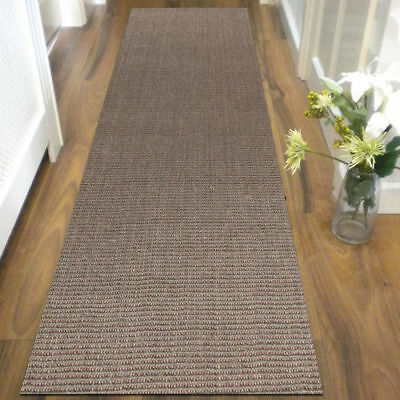 Grey Natural Sisal Floor Rug Mat 80x300cm Runner Tiger Eye Modern Flatweave