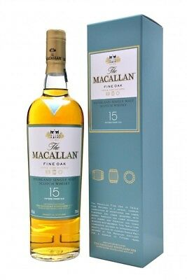 The Macallan 15 Fine Oak Year Old Scotch Whisky 700ml Single Malt Highland