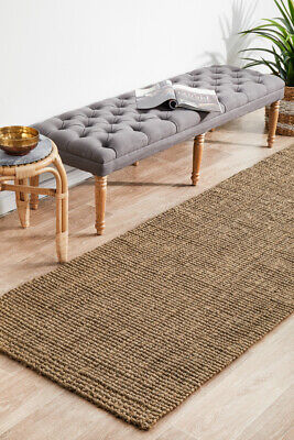 Brown Natural Sisal Floor Rug Mat 80x300cm Runner Boucle Modern Flatweave