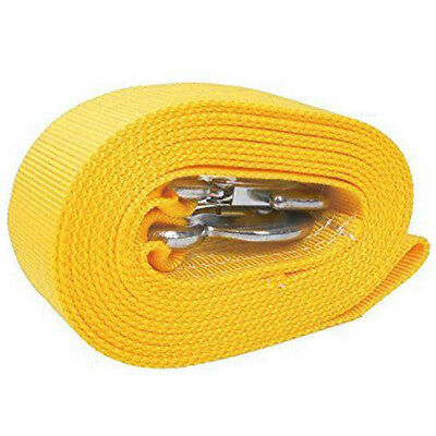 8 Tons Car Tow Cable Towing Strap Rope with 2 Hooks Heavy Duty 20FT 18,000LB Hot