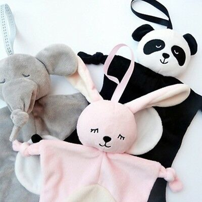 Plush Cartoon Animals Soft Baby Security Blanket Stuffed Toys Soothing Towel