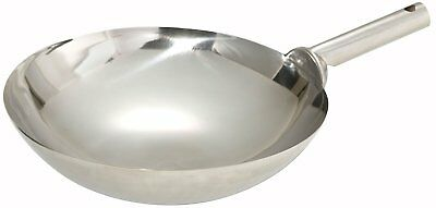 """Carbon Steel Kitchen Wok Asian Cantonese Style Stir Fry Pan Cookware 16"""" Inch"""