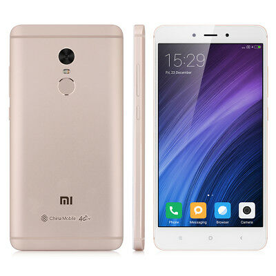 "5.5"" 3Go+64Go Xiaomi Redmi Note 4 Helio X20 DecaCore 4G Cellphone Fingerprint EU"