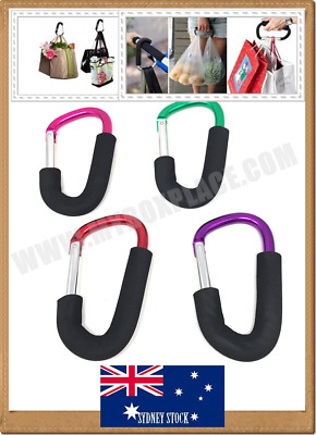 10 x Aluminum Baby Pram Stroller Buggy Hook Shopping Bag Mobility Scooter Hanger