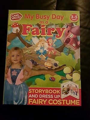 My Busy Day As A Fairy Book & Costume age 3-5 years great  for Christmas