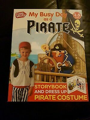 My Busy Day As A Pirate Book And Costume great stocking filler Christmas   bnwt