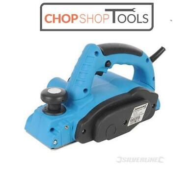 Silverline Electric Planer 710W 82mm Carpentry Wood Plane Power Tool 2xBlades