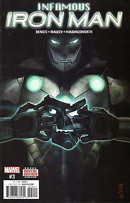 Infamous Iron Man Comic 3 Marvel 2017 Bendis Maleev Hollingsworth