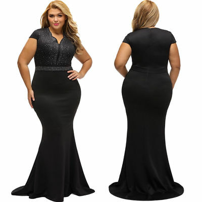 Women Plus Size Formal Bridesmaid Ball Gown Prom Club Party Cocktail Maxi Dress