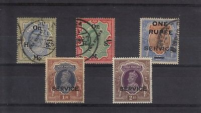 India Official Stamps - high denomination with overprints