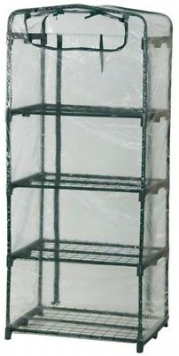 New Flowerhouse PlantHouse 27W x 19D Pop-Up Greenhouse with Perforated Shelves