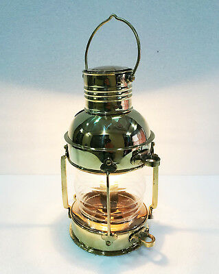Vintage Brass Electric Lamp Maritime Ship Lantern Boat Light Decorative Light