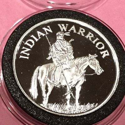 Indian Warrior Collectible Coin 1 Troy Oz .999 Fine Silver Round Medal Medallion