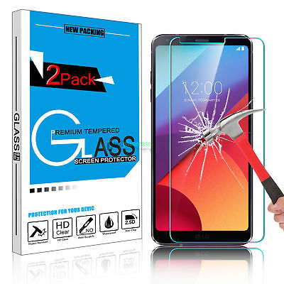 2X 9H Premium Tempered Glass Screen Protector Foil Film Guard For LG G6 Q6 OU