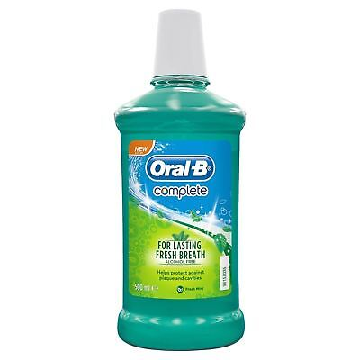 Oral-B Complete Mouthwash No Alcohol Fresh Mint 500ml 1 2 3 6 12 Packs