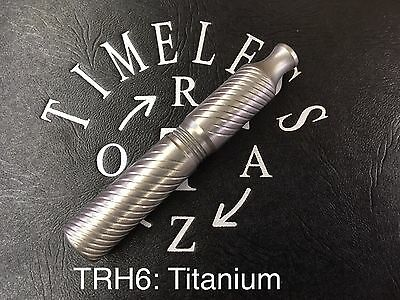 TITANIUM DOUBLE EDGED SAFETY RAZOR HANDLE by TIMELESS RAZOR:  MADE IN USA