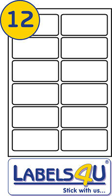 A4 White STICKY Address Labels 100 Sheets of 12 Labels Per Sheet 99.1x42.3 mm