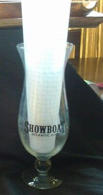 Rare Showboat Hotel & Casino Atlantic City Souvenir Hurricane Glass 1 + BONUS