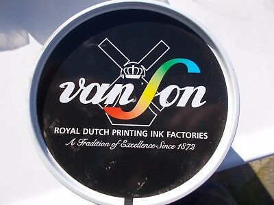 Quickson Pro Black Offset Ink Oil Base Van Son Vs3112 Vacuum Packed Can 2.2 Lb