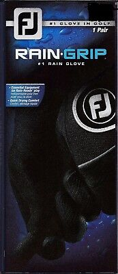 ONE (1) PAIR of NEW FootJoy RAIN GRIP Golf Gloves, PICK A SIZE, #1 Glove