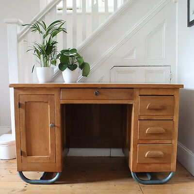 Mid century / vintage Headteachers / Teachers French school desk