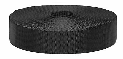 Strapworks 3/4 Inch Smooth Strong Nylon Webbing-ONE ROLL 30' Black-No splices!
