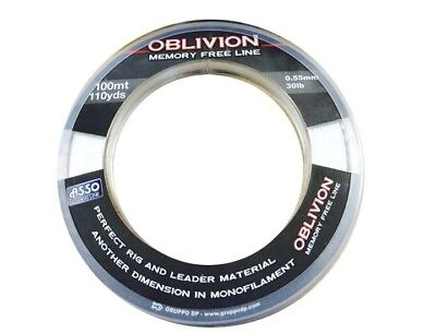 ASSO OBLIVION 100 meter Clear Sea Fishing Line Memory free line (All sizes)