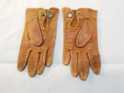 Antique Child's Brown Leather Gloves