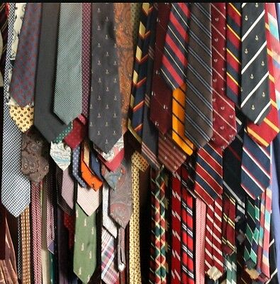 Mixed Lot Of 50 Men's Craft Hobby Designer Ties Assorted Colors Patterns