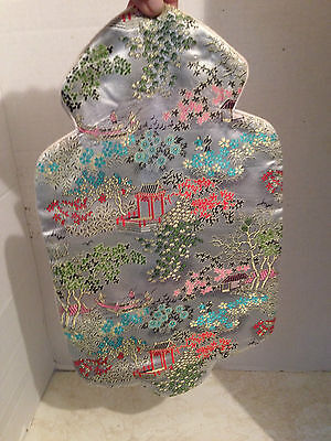Vintage Chinese Embroidered Silk Hot Water Bottle Bag