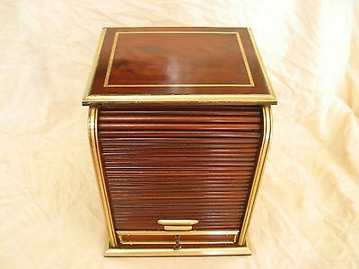 Antique French Mahogany Brass Cigar Box,late 19 Or Early 20 Century.