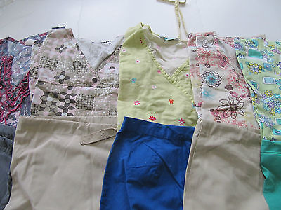 Womans Lot Of Scrub Sets, 5 Tops, 5 Pants, Very Nice    Size S (Box 204)