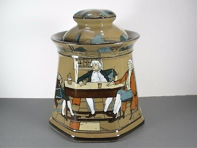Buffalo Pottery Deldare Ware YE LION INN 8-Side Humidor Ye Olden Days Collection