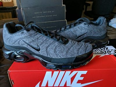 quality design 8a7e4 bfdfe Nike Air Max Plus TN Tuned 1 Quilted Wool Grey Black Anthracite 806262-022  Men