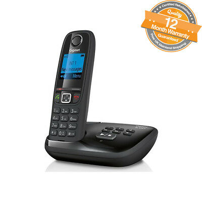 Gigaset AL415A Digital Cordless Phone with Answer Machine & Caller ID in Black