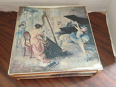 Vintage SCHMID BROS Jewelry Box Music Box The Godfather Theme