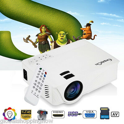 7000LM 1080P HD 3D Projector Home Cinema AV HDMI SD USB VGA for iPhone Samsung