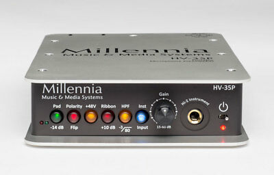 Millennia HV-35P Portable Microphone and Instrument Preamplifier with Ribbon ...