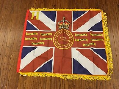 Prince of Wales's Leinster Regiment Kings Colours 2nd Battalion Fringed flag