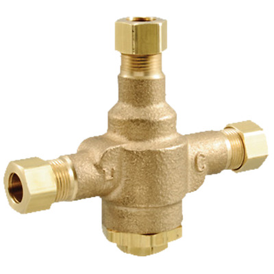 """Powers LFE480-10 - 3/8"""" NPT Compression Thermostatic  Mixing Valve Assembly"""