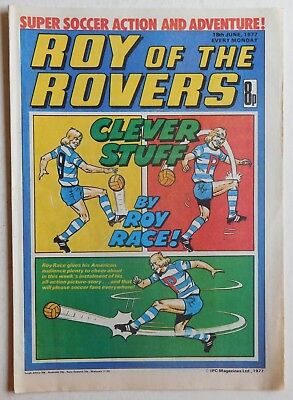 ROY OF THE ROVERS Comic - 18th June 1977