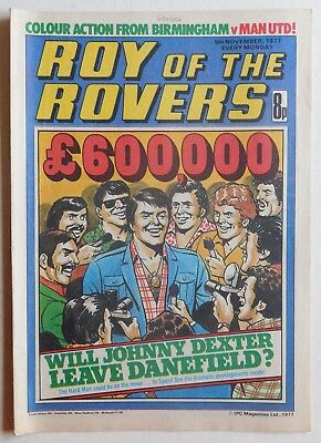 ROY OF THE ROVERS Comic - 5th November 1977